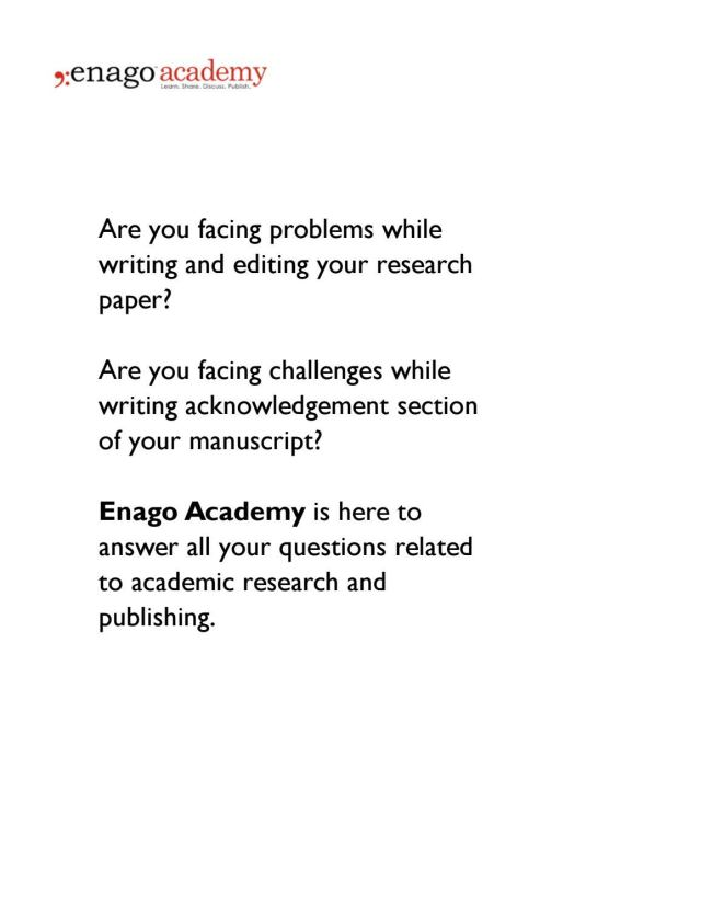 How to Draft the Acknowledgment Section of a Manuscript by Enago