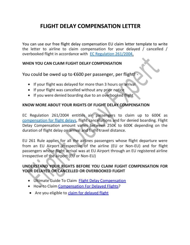 Flight Delay Expert - Claim for Delayed Flights Compensation by