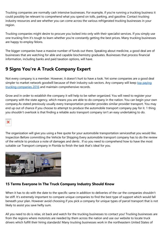 26 Things You Should Know About Biggest Trucking Companies In