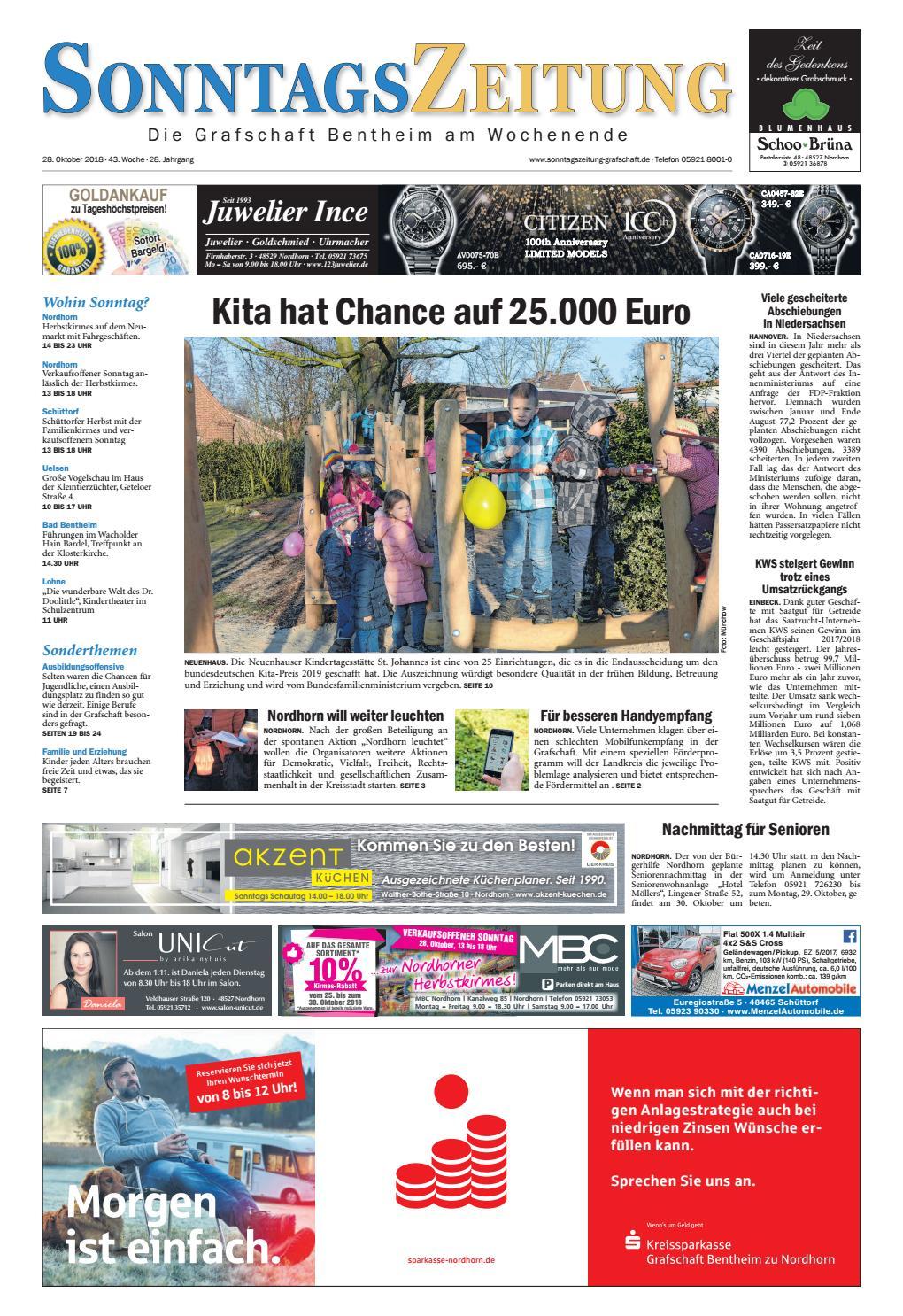 sonntagszeitung 28 10 2018 by