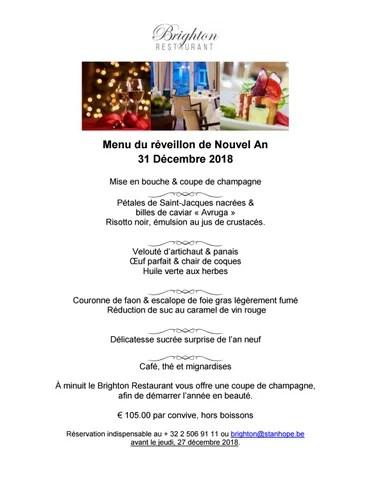 menu du reveillon de nouvel an 31 decembre 2018 mise en bouche coupe de champagne petales de saint jacques nacrees billes de caviar avruga risotto