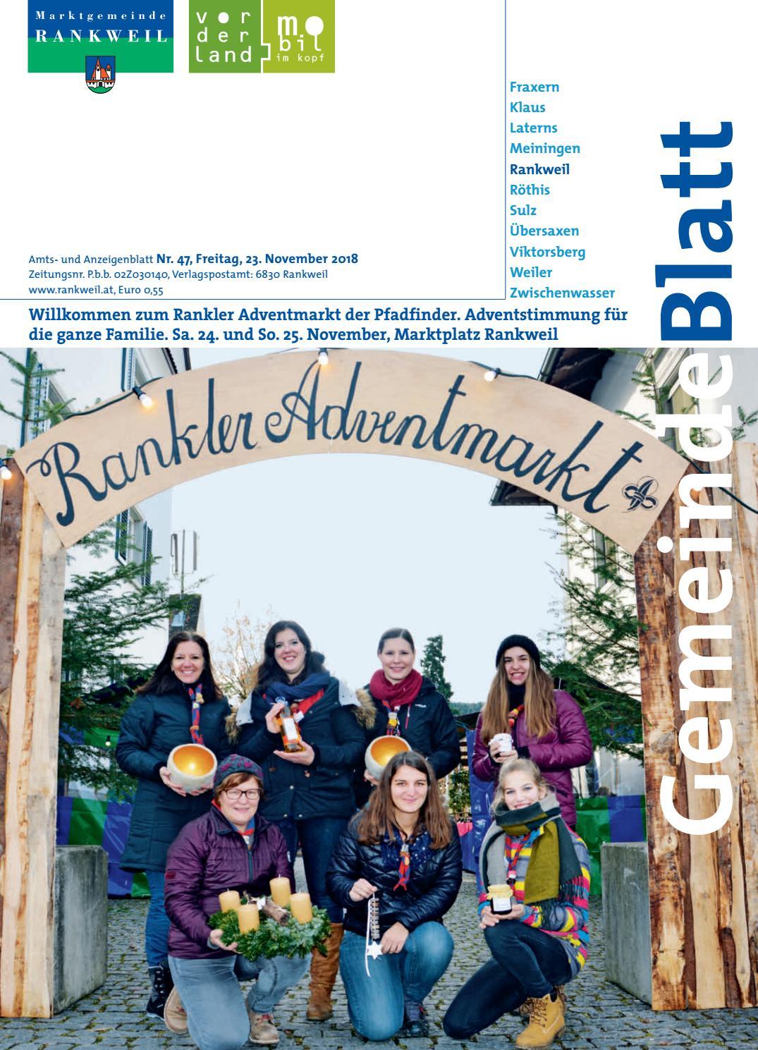 Gemeindeblatt Rankweil 2018 Woche 47 By Rankweil Issuu