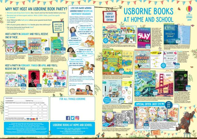 Usborne Books at Home and School Spring Leaflet 29 by Usborne