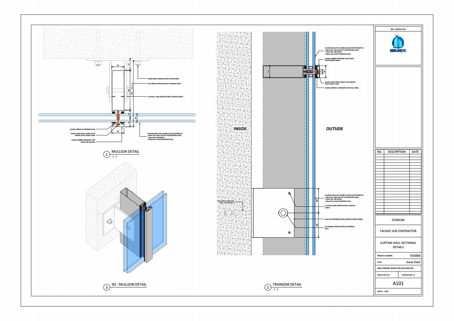 revit facade shop drawings by abin jose