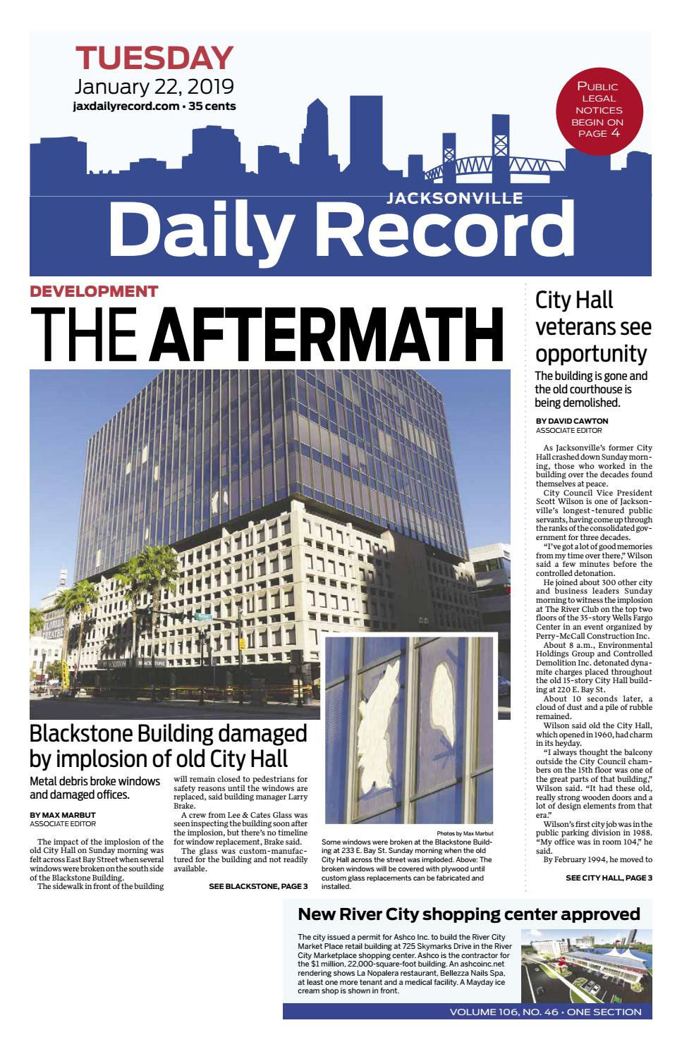 Jacksonville Daily Record 1 22 19 By Daily Record Observer Llc