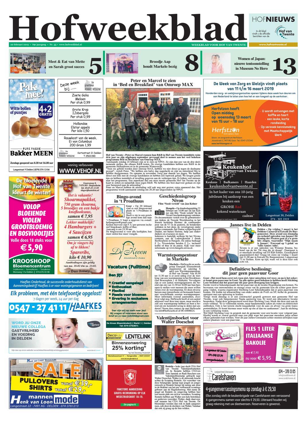 Hofweekblad Week 8 19 By Regionale Uitgeversgroep Issuu