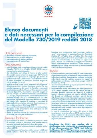 Documenti Per Modello 730 By Servizio Civile Sv 2019 Issuu