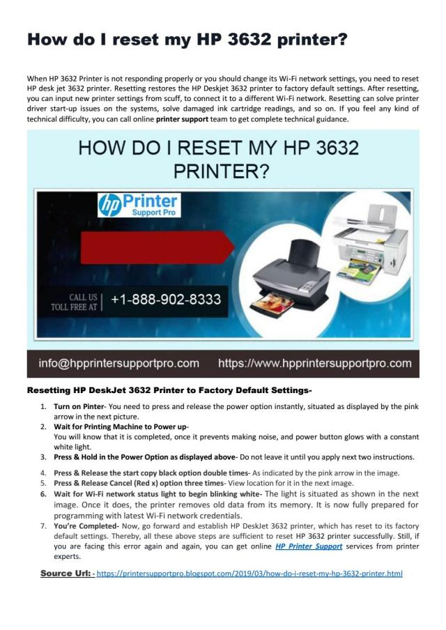 How do I reset my HP 26 printer? by Maria Carter - issuu