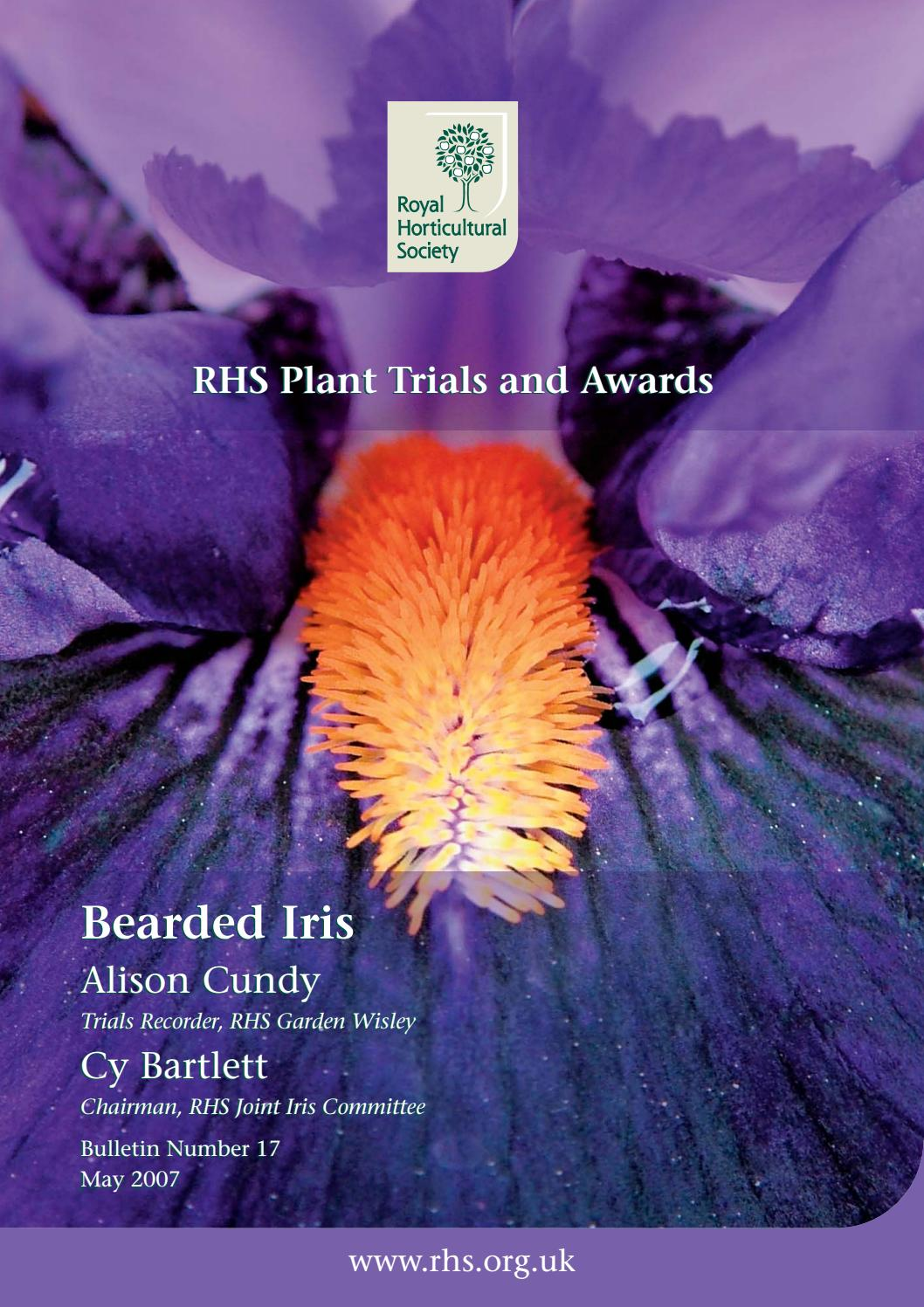 Rhs Plant Trials And Awards Rhs Plant Trials And Awards Bearded