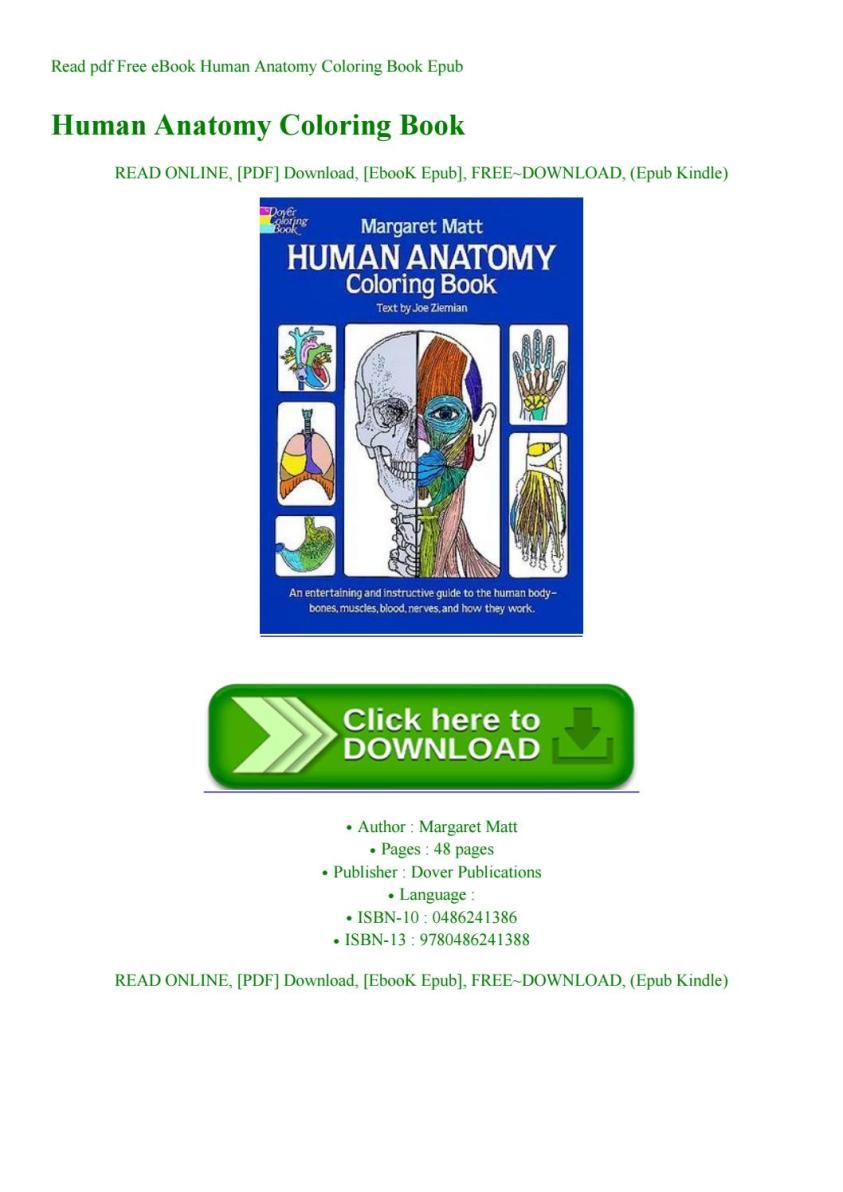 Read pdf Free eBook Human Anatomy Coloring Book Epub by ...