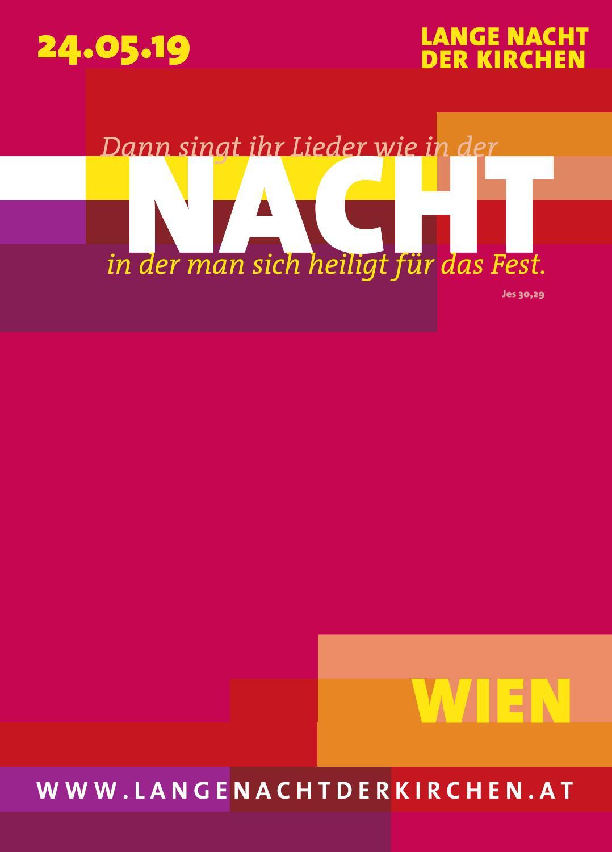 Lange Nacht Der Kirchen Programmheft 24 Mai 2019 I Wien By Lange