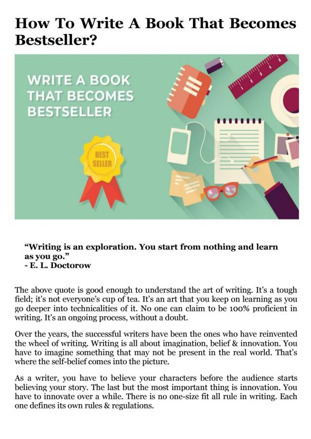 Write A Book That Becomes Bestseller by eSparkBiz - issuu