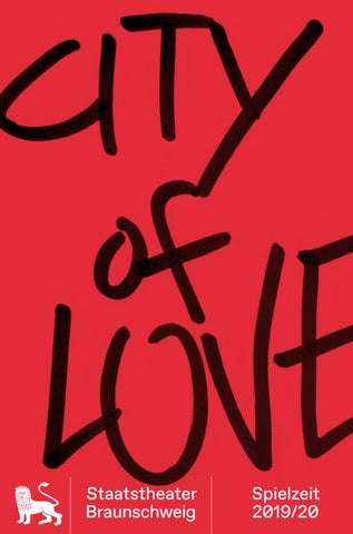 City Of Love Spielzeitheft 2019 20 By Staatstheater