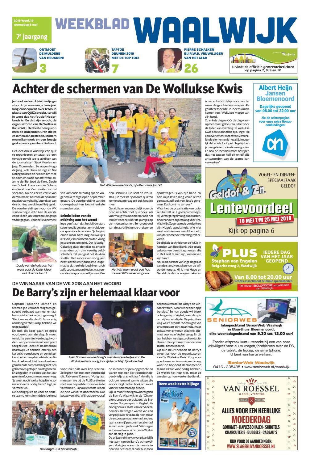 Weekblad Waalwijk 08 05 2019 By Uitgeverij Em De Jong Issuu