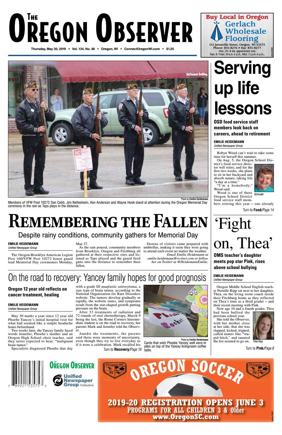 5 30 19 Oregon Observer By Woodward Community Media Issuu