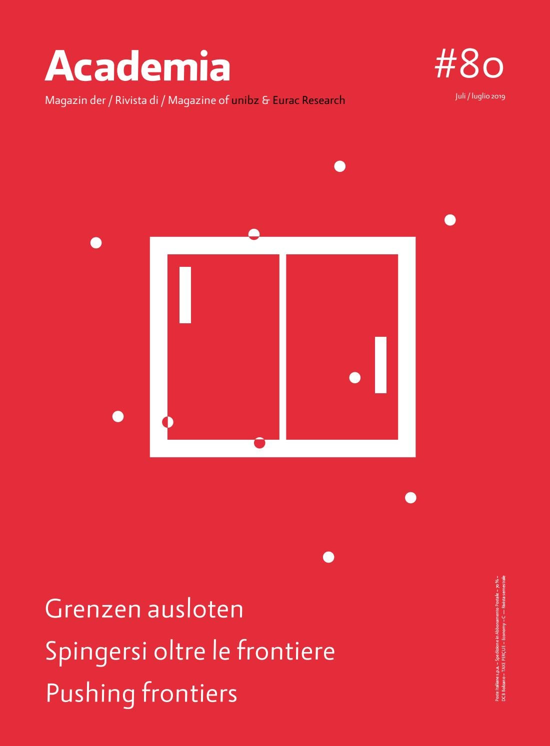 Academia 80 By Free University Of Bozen Bolzano Issuu