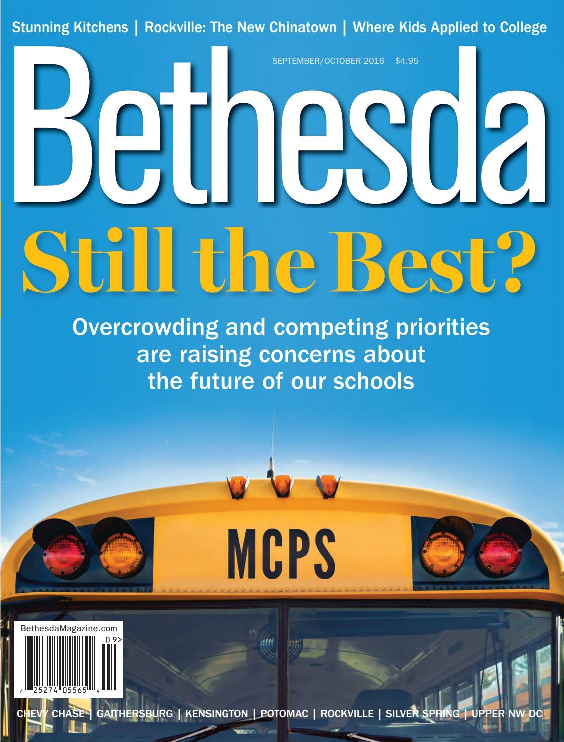 Bethesda Magazine September October 2016 By Bethesda Magazine Issuu