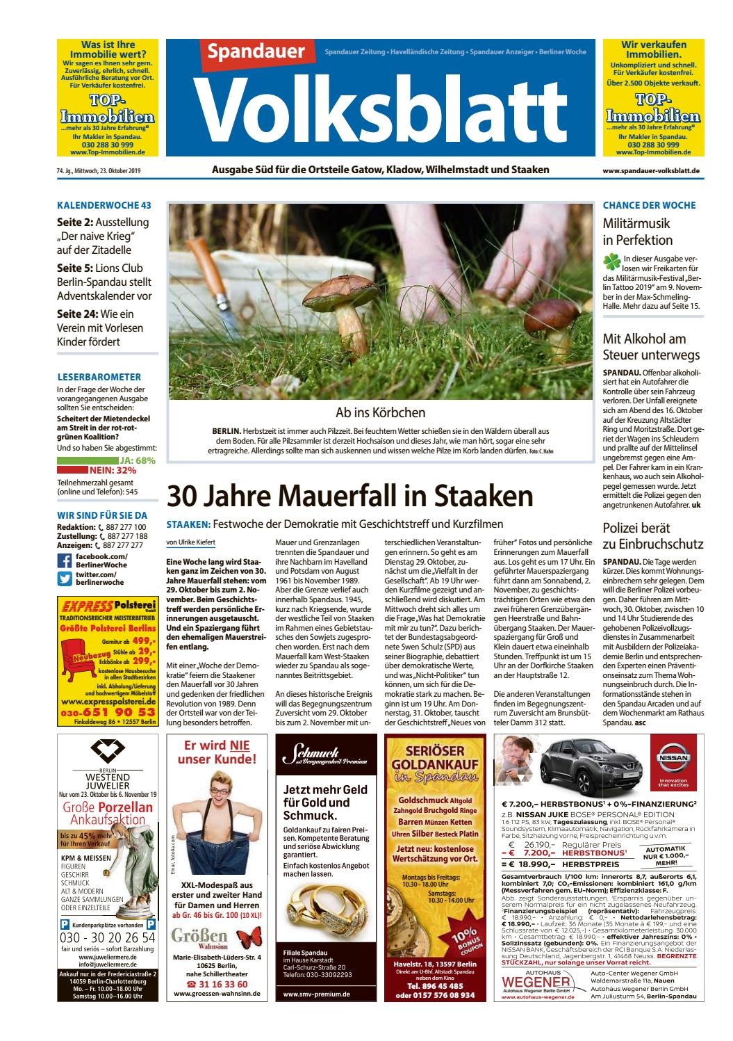L27 Spandauer Volksblatt Fur Gatow Kladow Wilhelmstadt Staaken