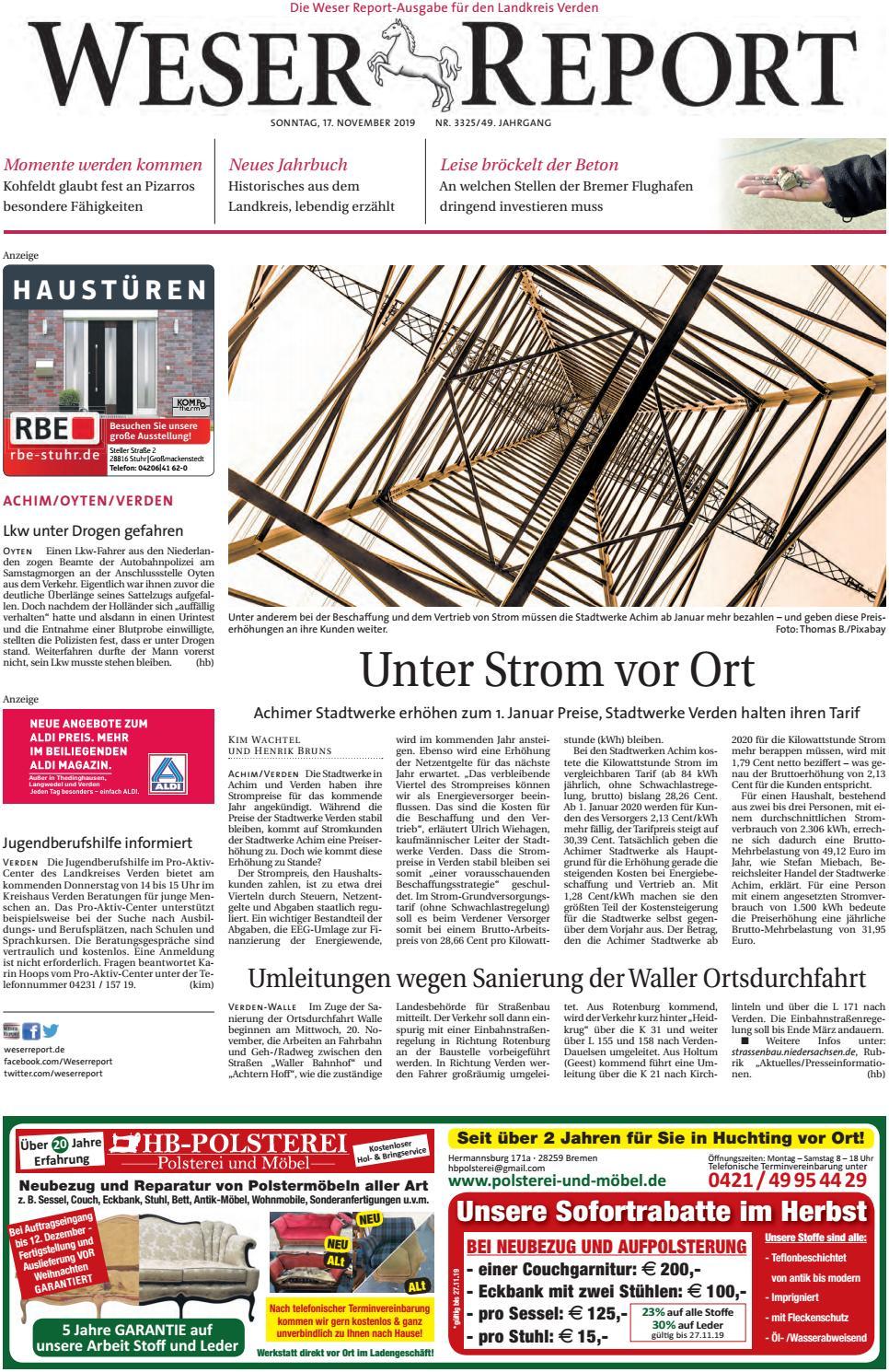 Weser Report Achim Oyten Verden Vom 17 11 2019 By Kps