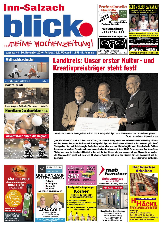 Inn Salzach Blick Ausgabe 48 2019 By Blickpunkt Verlag Issuu