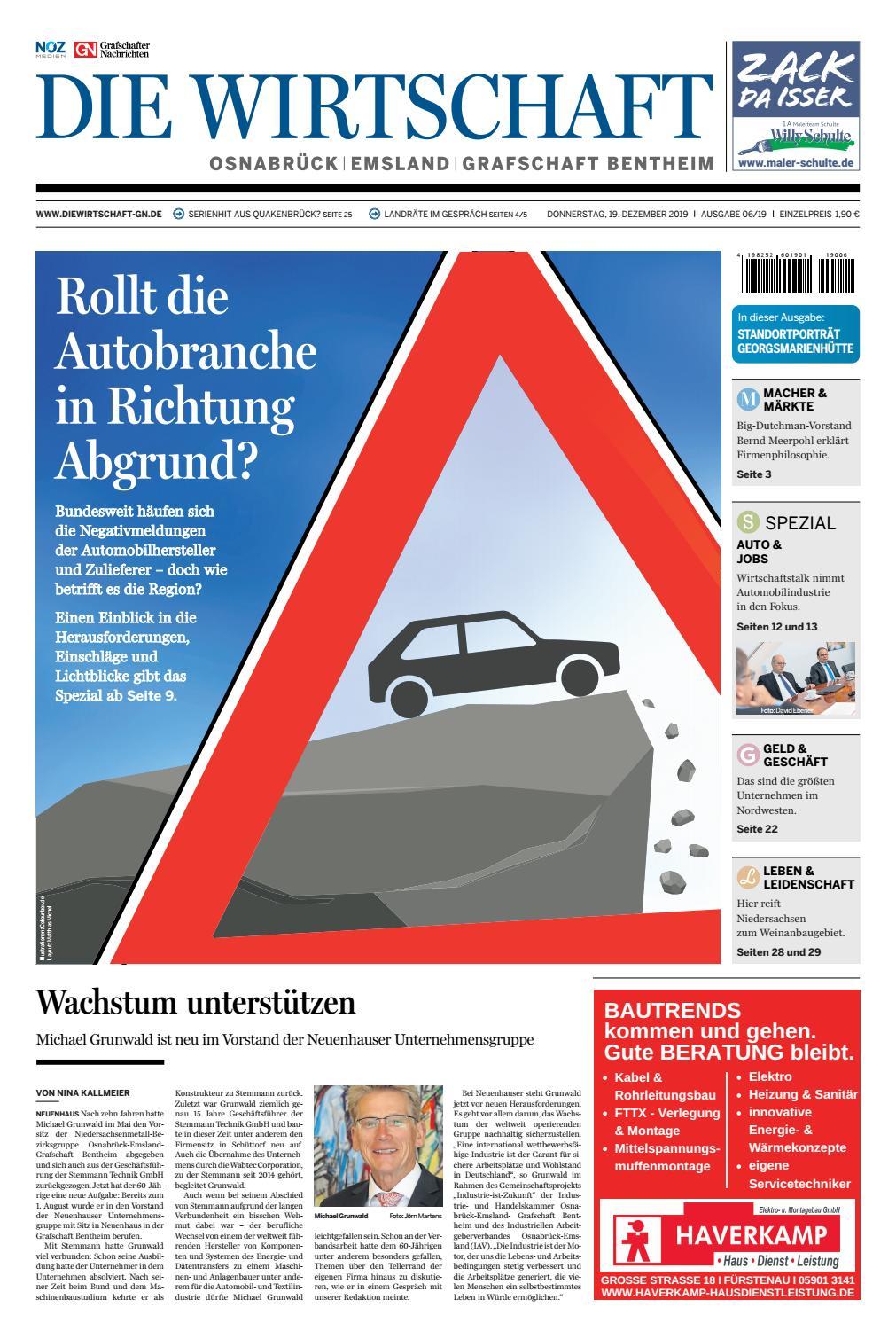 Die Wirtschaft Dezember 2019 By Grafschafter Nachrichten Issuu
