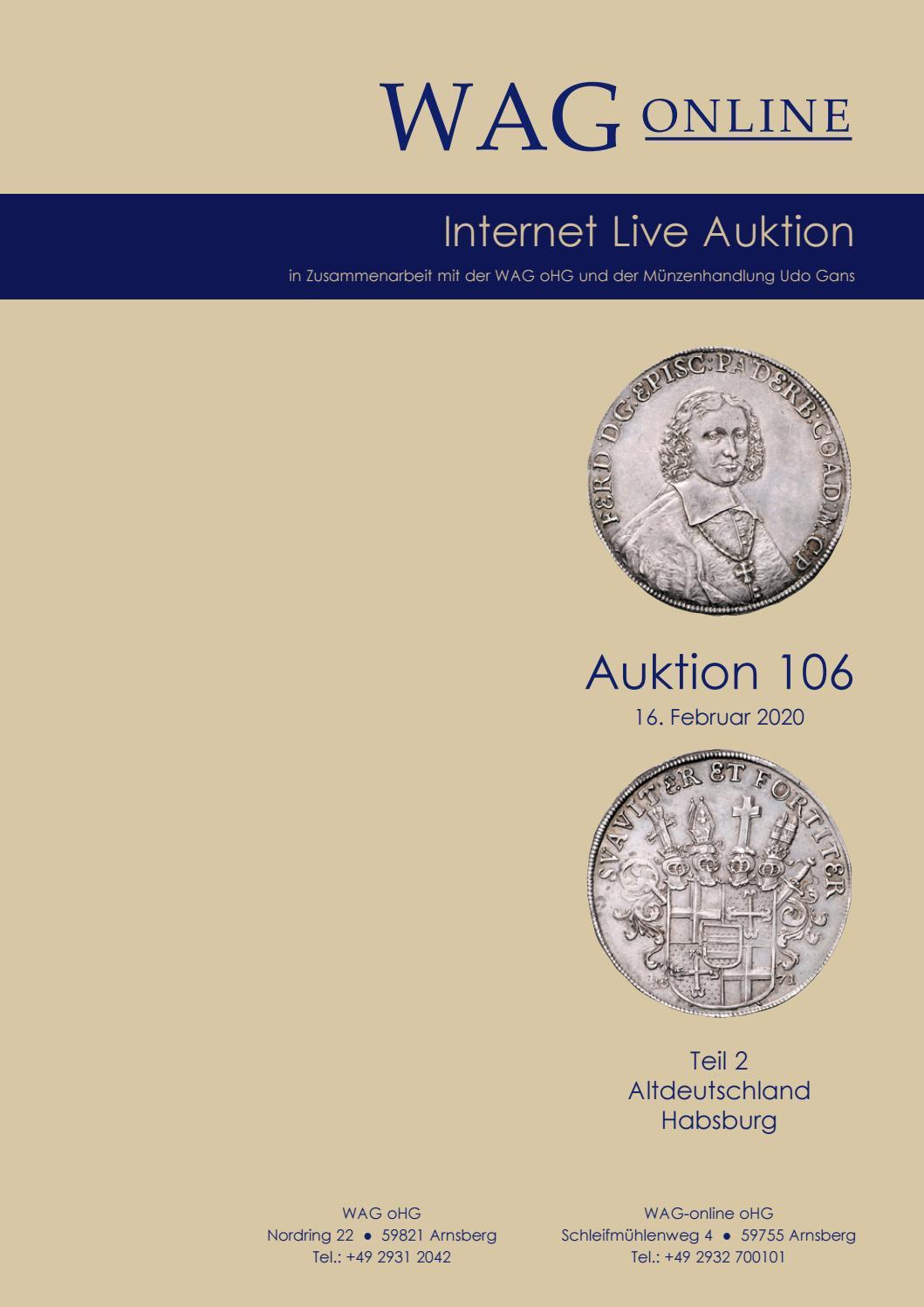 Wag Online Auktion 106 Teil 2 By Wag Issuu