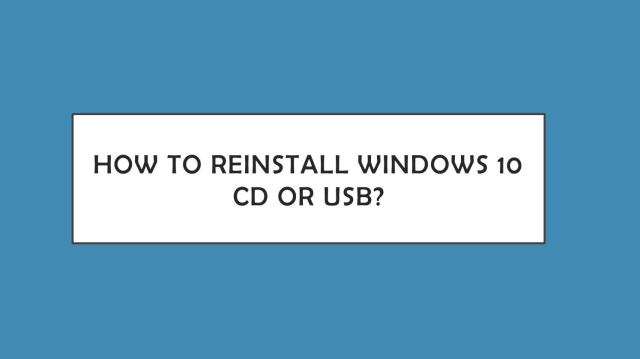 How to Reinstall Windows 19 without CD or USB? by Marily Ruth - issuu
