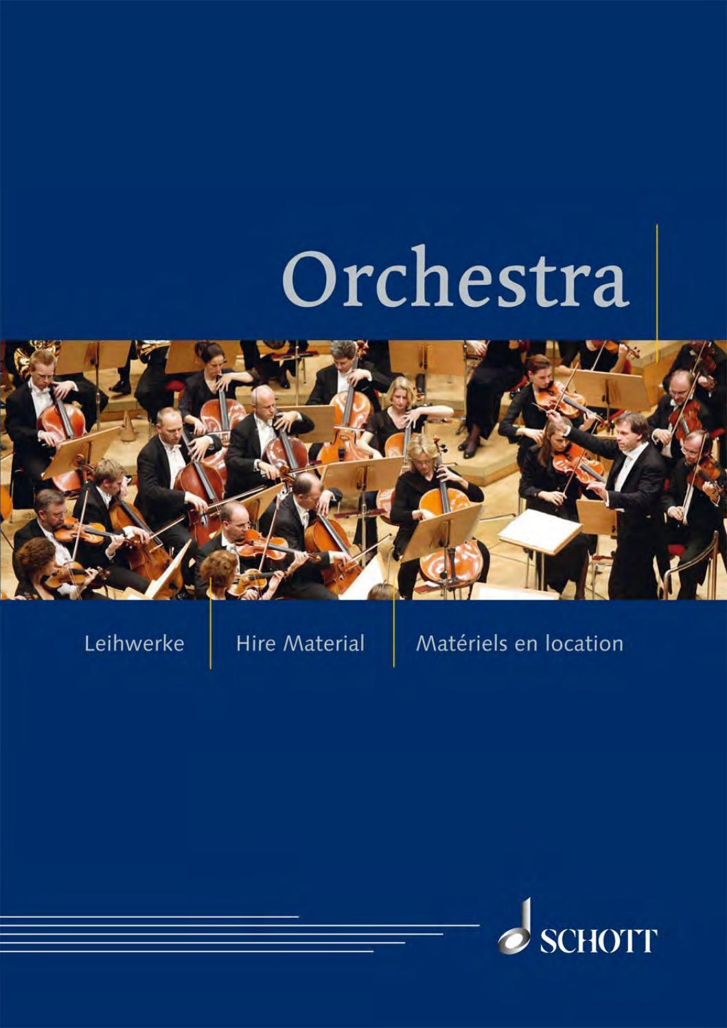 orchestra by schott music issuu