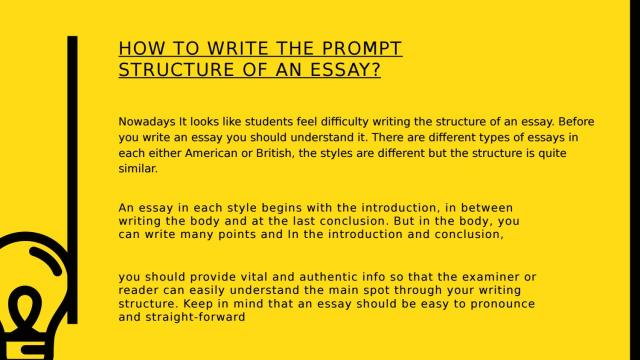 How To Write The Prompt Structure Of An Essay ? by Hirearticle