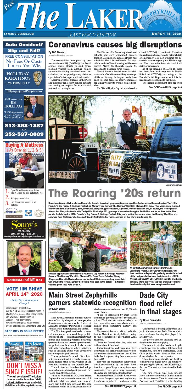 The Laker-East Pasco-March 18, 2020 by LakerLutzNews - issuu