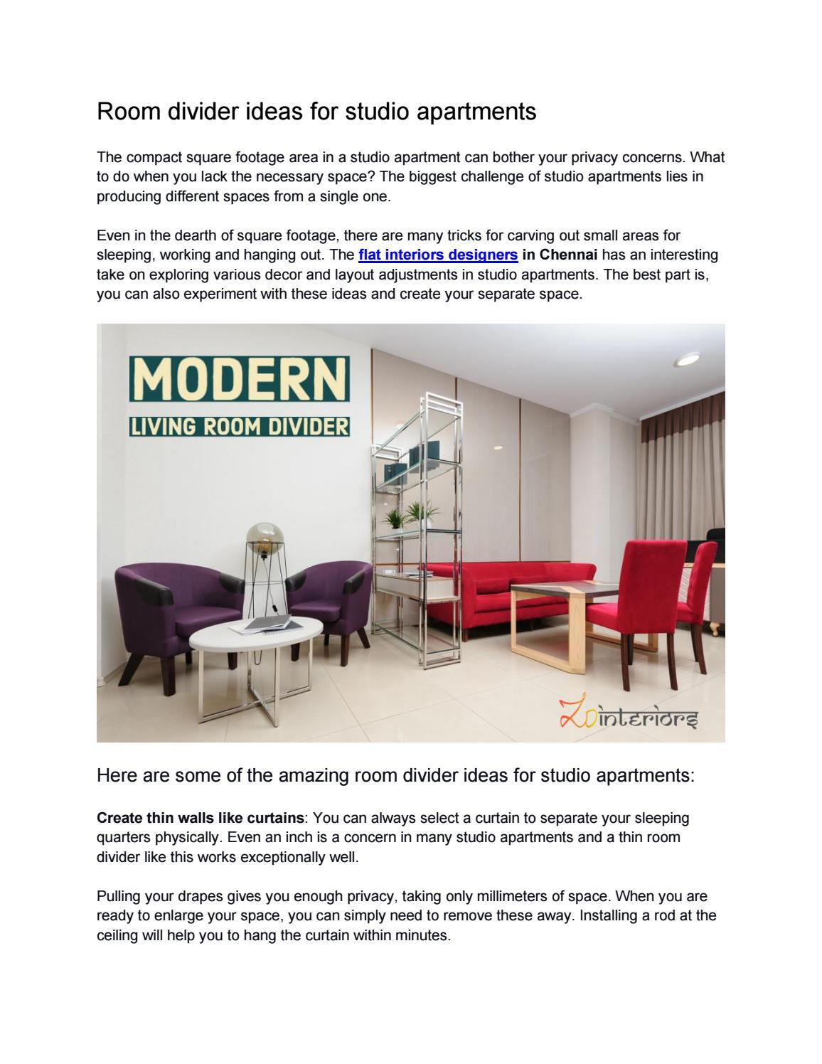 room divider ideas for studio