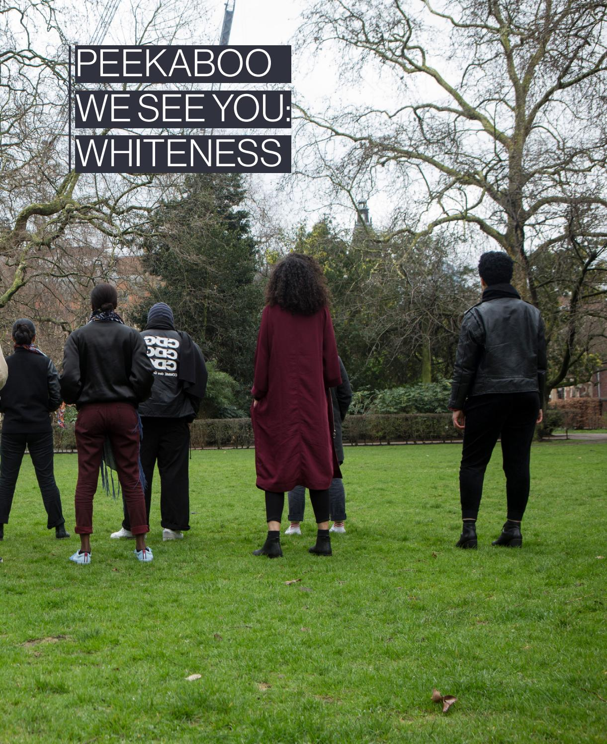 Peekaboo We See You Whiteness By Shades Of Noir Issuu