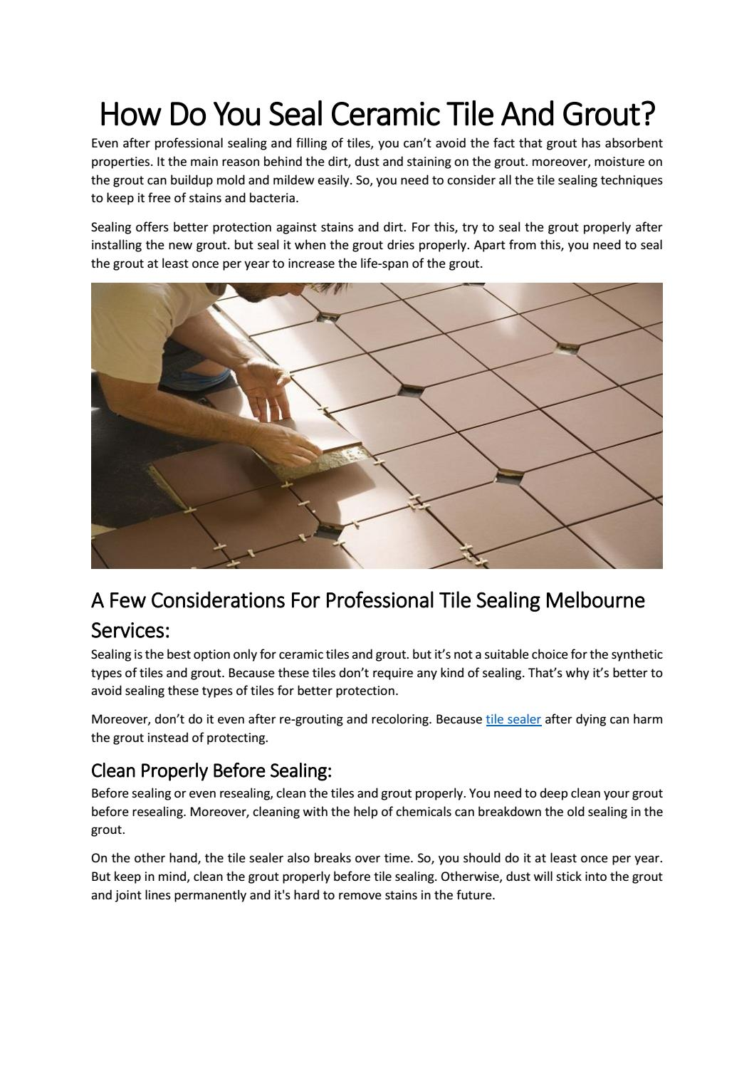 how do you seal ceramic tile and grout
