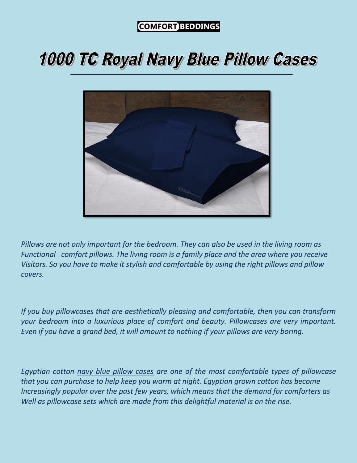 1000 tc royal navy blue pillow cases by
