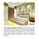 The Best Interior Designers In Kolkata Shares The Use Of Onyx Marble In Decoration By Spectrum Interiors Issuu