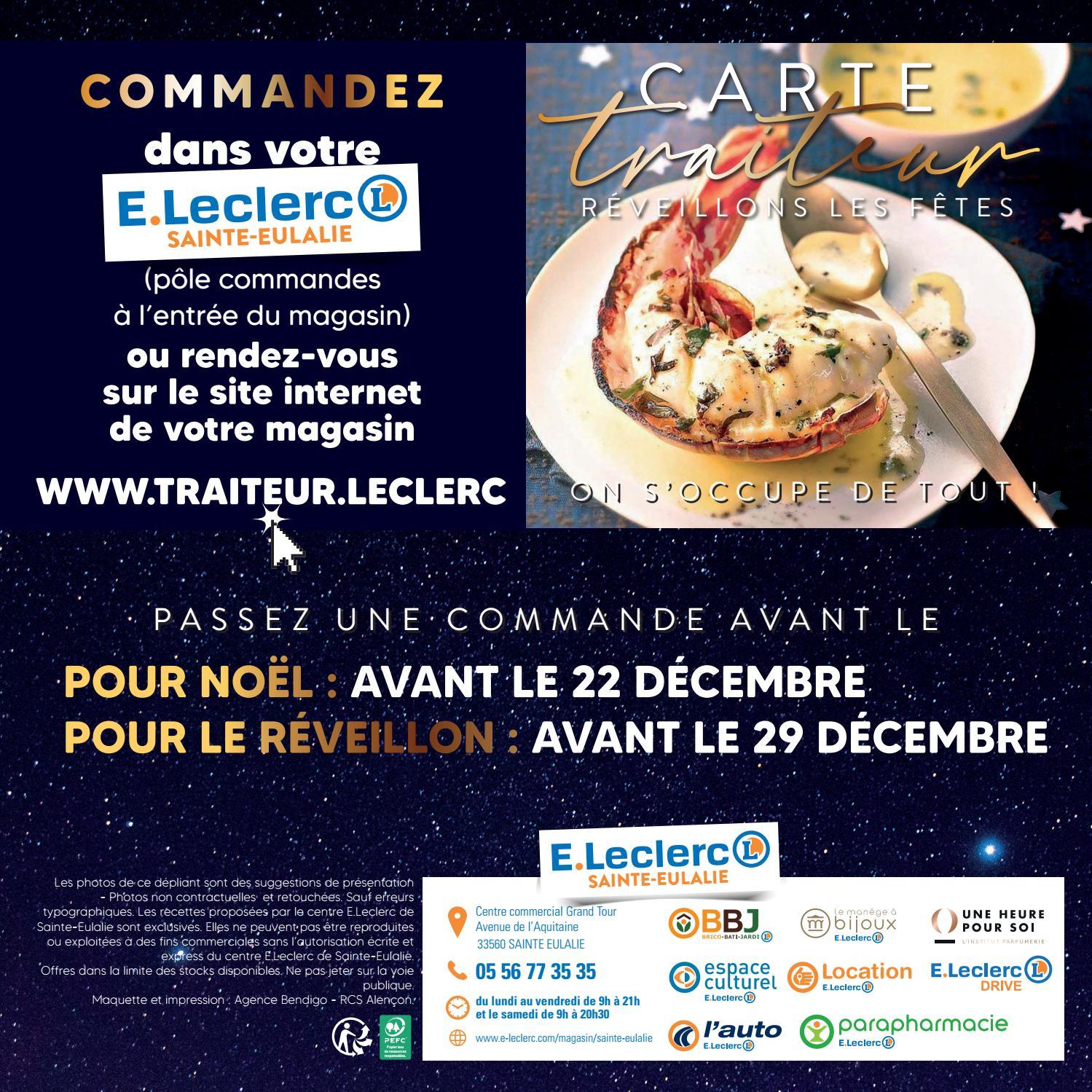 Catalogue Traiteur Du Centre E Leclerc De Sainte Eulalie Les Delices D Eulalie De Fin D Annee Vebuka Com