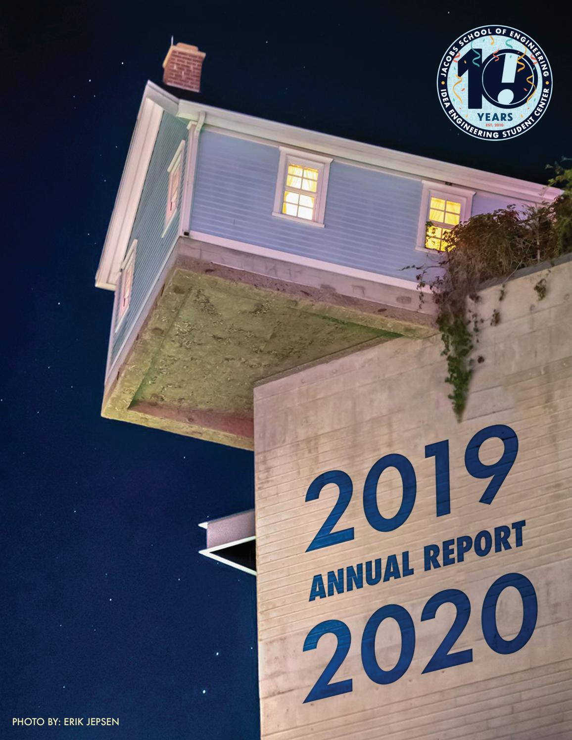 annual report 2019 2020 by ucsd idea