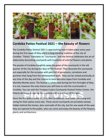 cordoba patios festival 2021 the