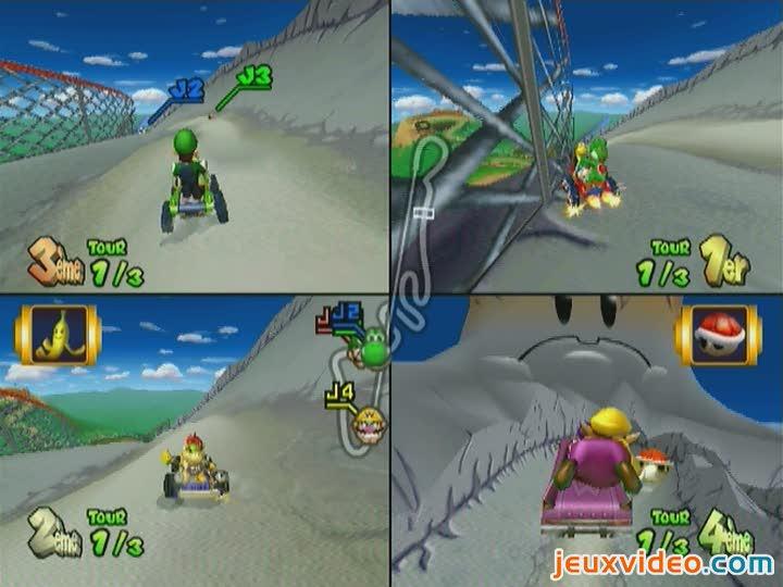 Gameplay Mario Kart Double Dash VS Montagne DK