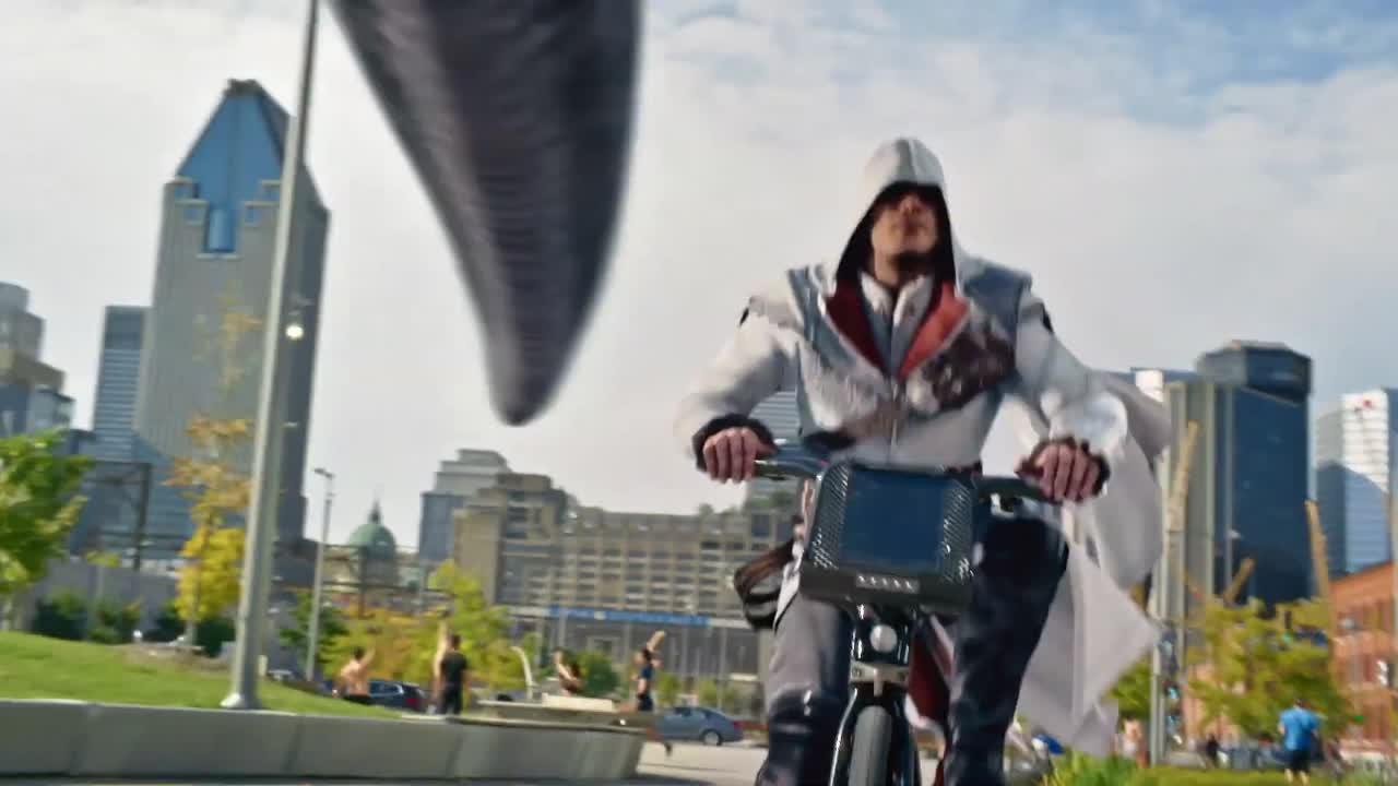 Bande-annonce Montréal promeut son environnement créatif avec Ezio d'Assassin's Creed
