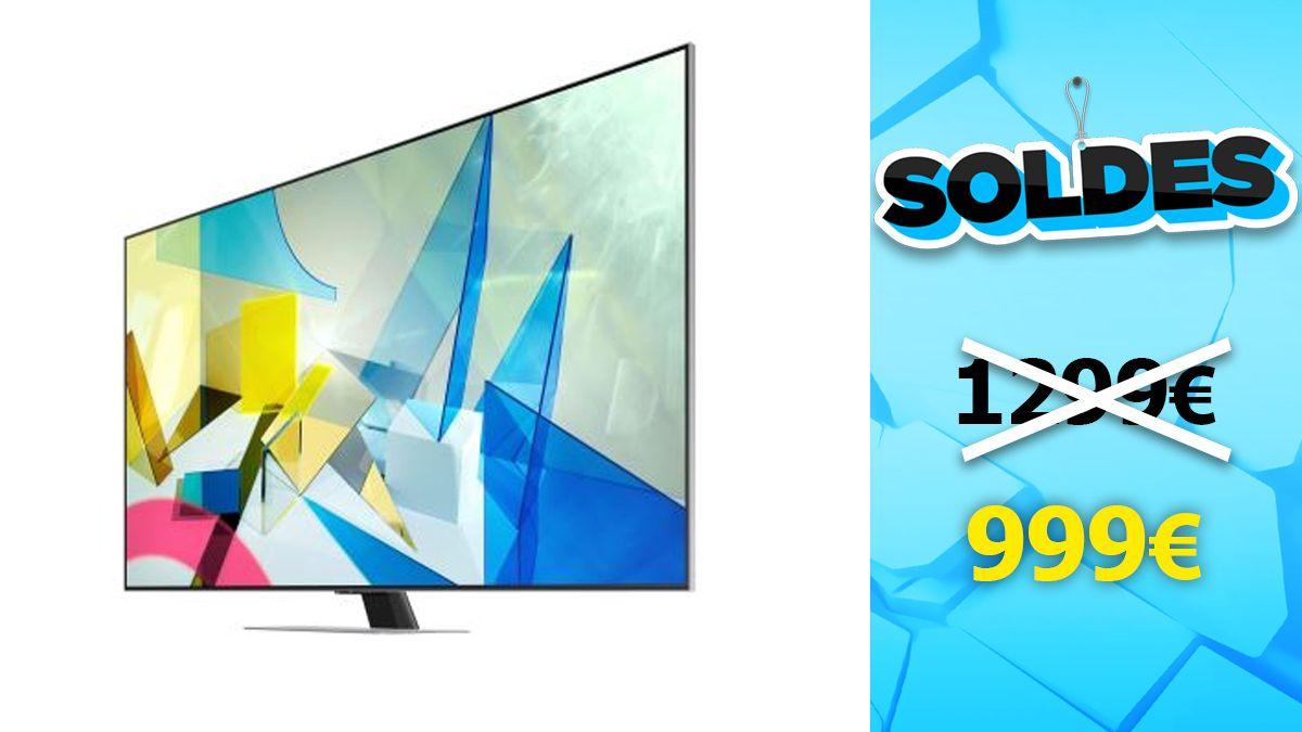 soldes samsung tv qled 55 pouces a