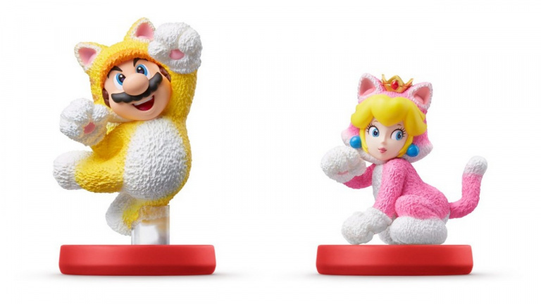 Amiibo: the Mario cat and Peach cat double pack is available for pre-order