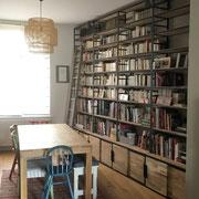bibliotheques metal et bois sur mesure