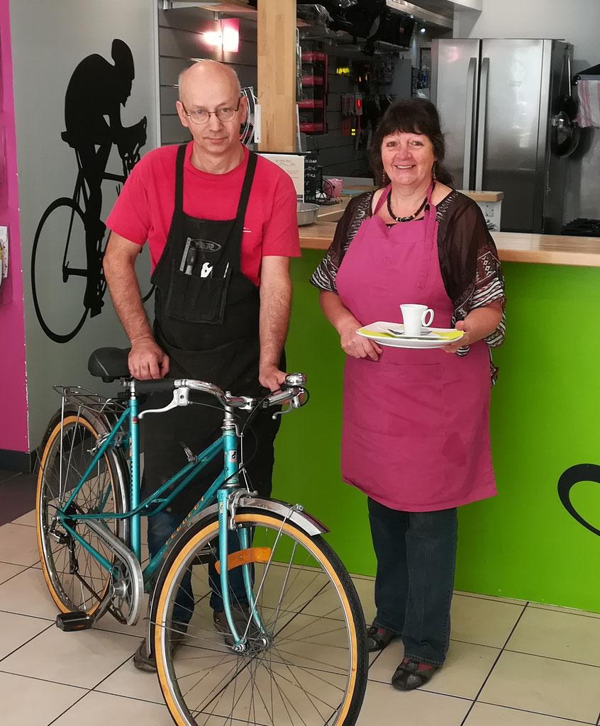 bike workshop organic cafe