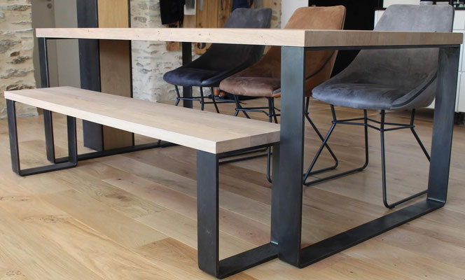 pied de table metal personnalisable et