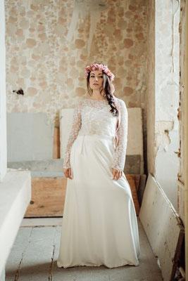 Kleid D0115 Hochzeitskleid Boho Hochzeitskleid Brautkleid