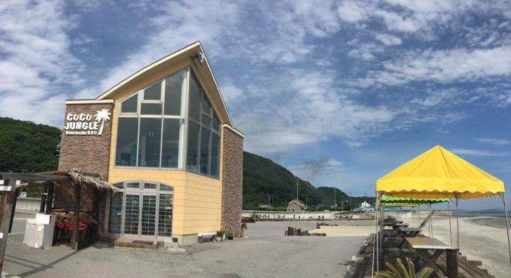 山海海水浴場のココジャングルの建物外観