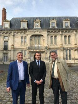 Macron à Villers-Cotterêts