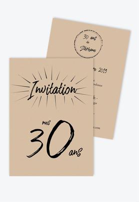 carte invitation anniversaire homme