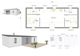 Plan Maison Plain Pied 2 Chambres Envie Du Constructeur Maison